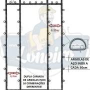 Lona: 10,0 x 4,0m Encerado RipStop Coton Algodão Areia + 50 metros Corda 8mm com 1 ROW 0,35m