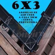 Lona 6,0 x 3,0m Azul 350 Micras com Argolas + 40 Elásticos LonaFlex 30cm + 10 metros corda 4mm de brinde!