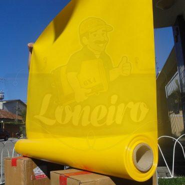 Tecido Lona de Vinil Amarela 30x1,57 Metros PVC Bobina Impermeável Malha Fio 1000 Super Resistente para toldos, tatames, ringues, cobertura