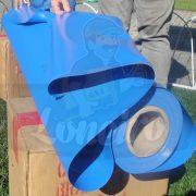 Tecido Lona de Vinil Azul Céu 30x1,57 Metros PVC Bobina Impermeável Malha Fio 1000 Super Resistente para toldos, tatames, ringues, revestimentos