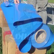 Tecido Lona de Vinil Azul Céu 15x1,57 Metros PVC Rolo Impermeável Malha Fio 1000 Super Resistente para toldos, tatames, ringues, cobertura