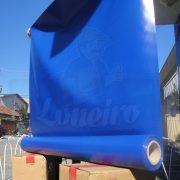 Tecido Lona de Vinil Azul Royal 15x1,57 Metros PVC Rolo Impermeável Malha Fio 1000 Super Resistente para toldos tatames ringues coberturas