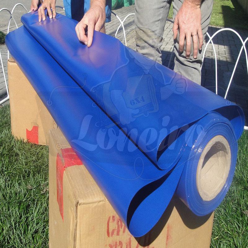 Tecido lona de vinil azul royal 15x1 57 metros pvc rolo for Lona para toldos por metros