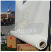 Tecido Lona de Vinil Branca 15x1,57 Metros PVC Rolo Impermeável Malha Fio 1000 Super Resistente para toldos tendas eventos revestimentos cobertura
