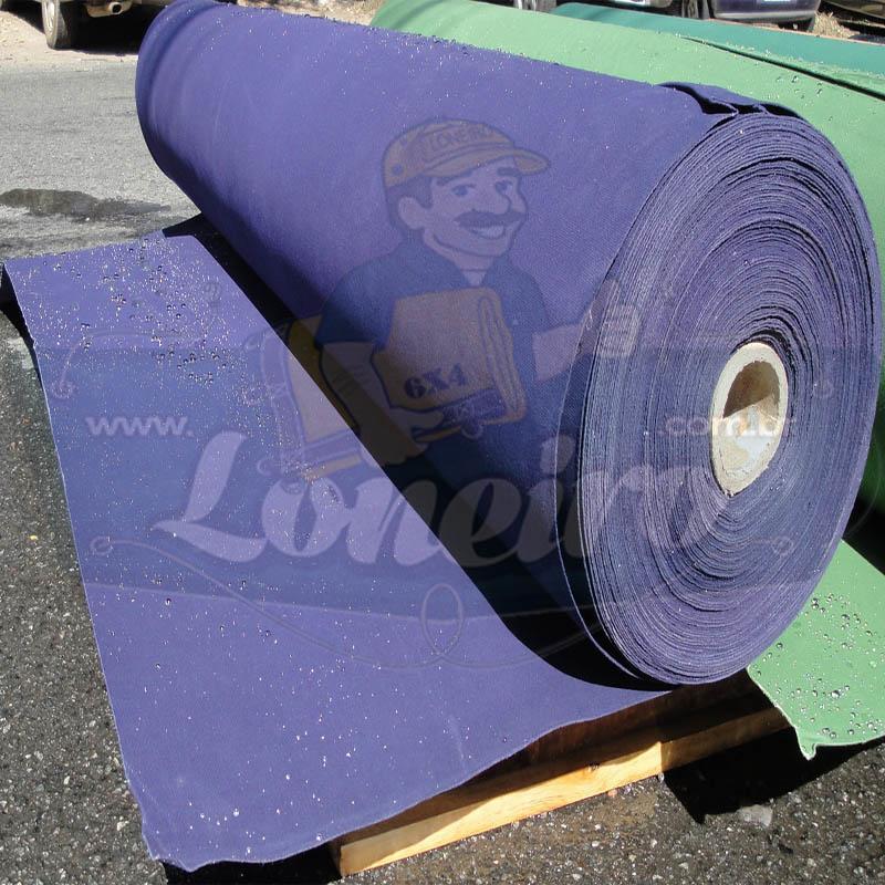 Bobina Encerado Azul Lona 08 Algodão Impermeável 51,0 x 1,57m  = 80m² Tecido Impermeável