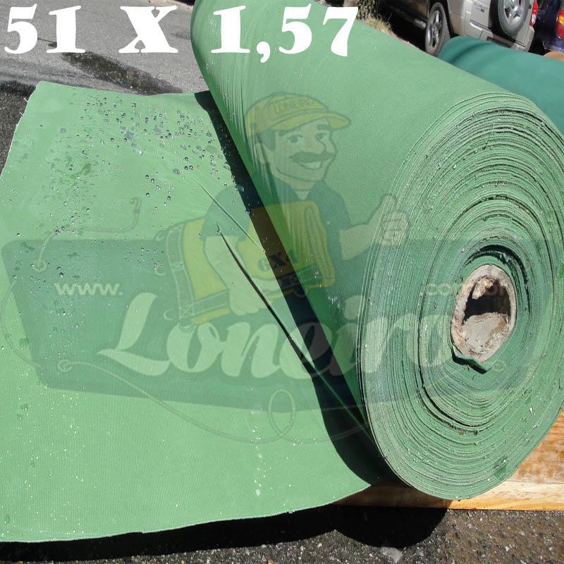Bobina Encerado Verde Claro Lona 08 Algodão 51,0 x 1,57m  = 80m² Tecido Impermeável