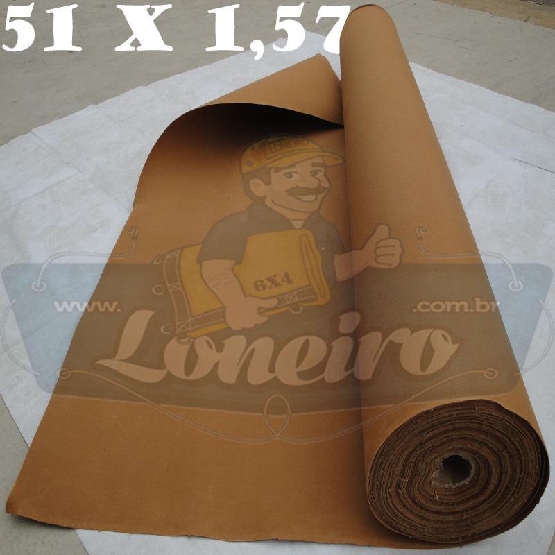 Bobina Encerado Caqui Lona 08 Algodão 51,0 x 1,57m  = 80m² Tecido Impermeável