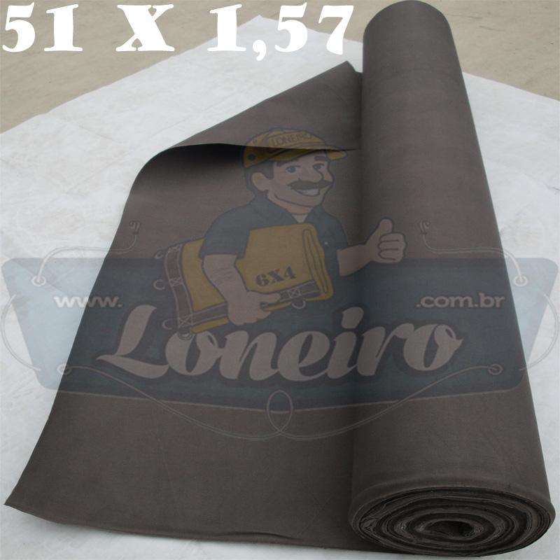 Bobina Encerado Cinza Lona 08 Algodão 51,0 x 1,57m  = 80m² Tecido Impermeável
