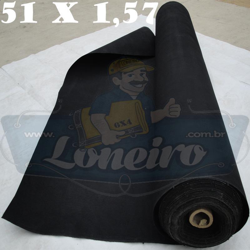 Bobina Encerado Preta Lona 08 Algodão 51,0 x 1,57m  = 80m²