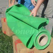 Tecido Lona de Vinil Verde Claro 15x1,57 Metros PVC Rolo Impermeável Malha Fio 1000 Super Resistente para toldos tendas revestimento coberturas