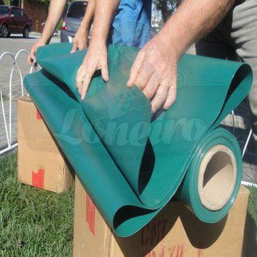 Tecido Lona de Vinil Verde Escuro 15x1,57 Metros PVC Rolo Impermeável Malha Fio 1000 Super Resistente para toldos tendas revestimento coberturas