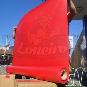Tecido Lona de Vinil Vermelho 30x1,57 Metros PVC Bobina Impermeável Malha Fio 1000 Super Resistente para toldos, tatames, ringues, cobertura