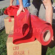 Tecido Lona de Vinil Vermelho 15x1,57 Metros PVC Rolo Impermeável Malha Fio 1000 Super Resistente para toldos, tatames, ringues, coberturas