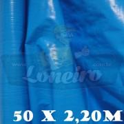Bobina Plástica Azul Céu de Polietileno 50,0 x 2,20m = 110m²
