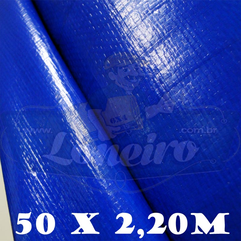 Bobina Plástica Azul Royal de Polietileno 50,0 x 2,20m = 110m²