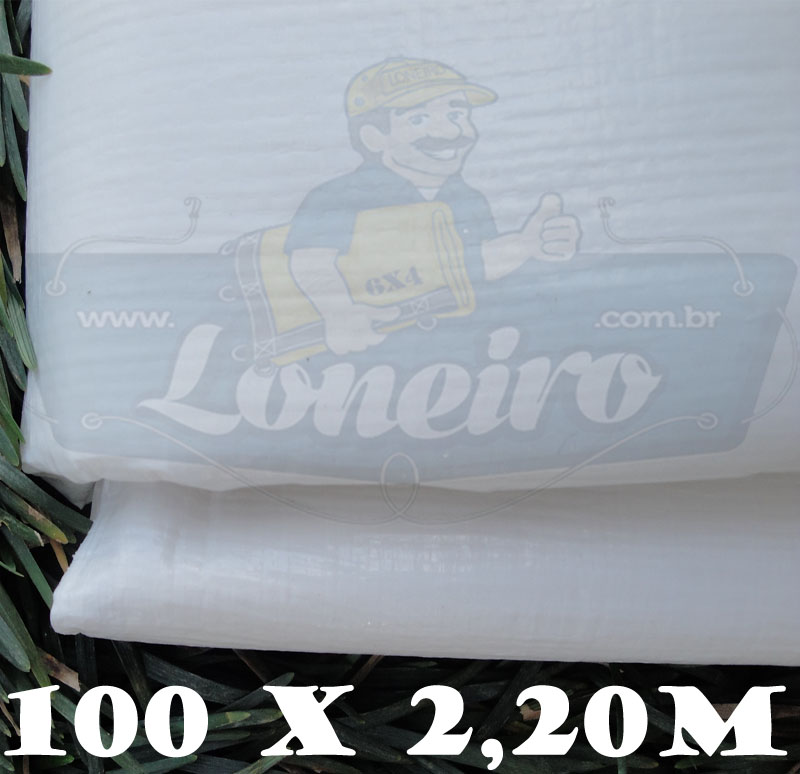 Bobina Plástica Branca de Polietileno 100,0 x 2,20m = 220m²
