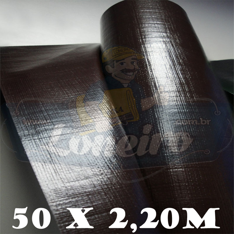 Bobina Plástica Marrom de Polietileno 50,0 x 2,20m = 110m²