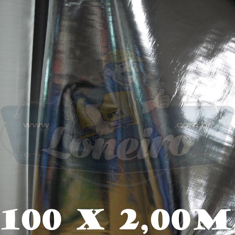 Bobina Plástica Metalizada Polietileno 100,0 x 2,0m = 200m²