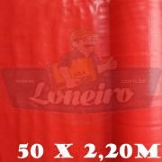 Bobina Plástica Vermelha Polietileno 50,0 x 2,20m = 110m