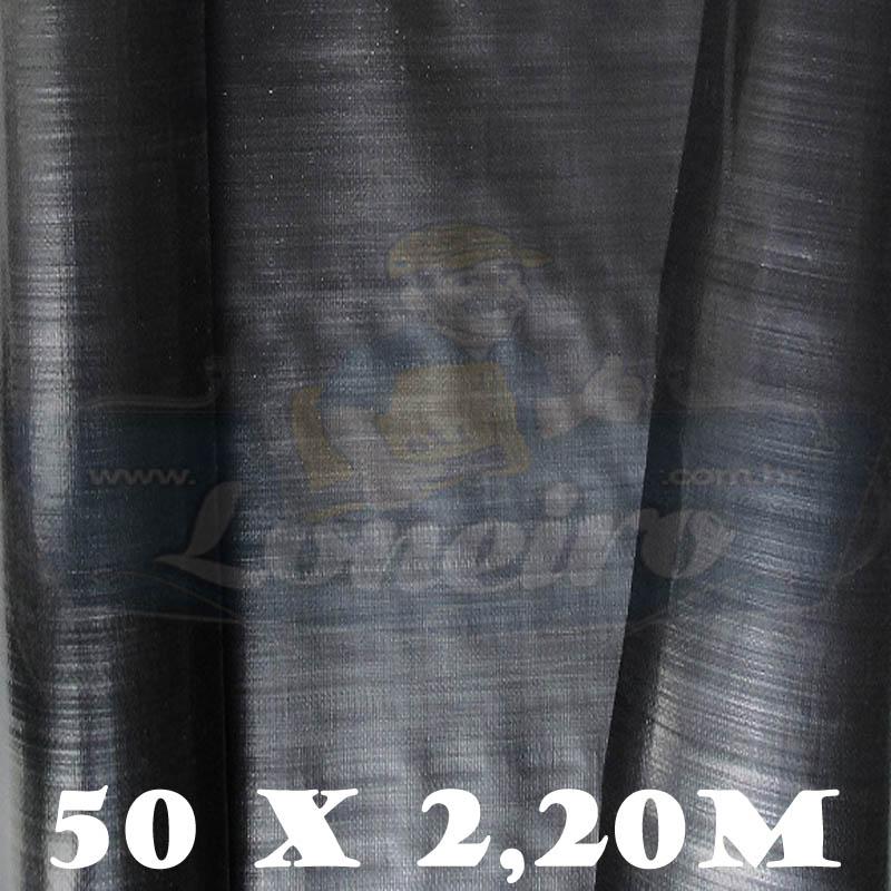 Bobina Plástica Preta de Polietileno 50,0 x 2,20m = 110m²