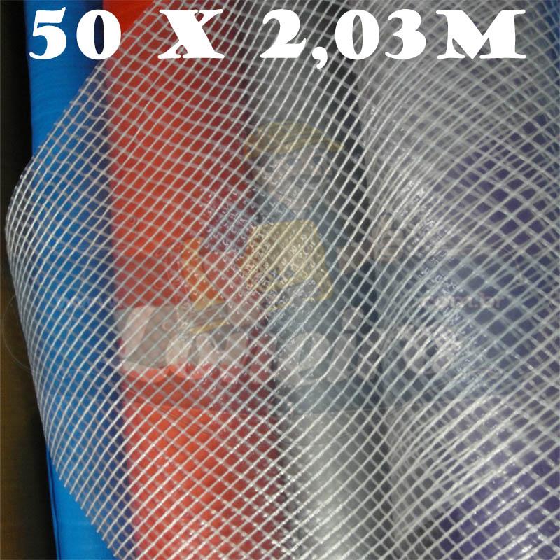 Bobina Plástica Transparente de Polietileno 50,0 x 2,03m = 101,5m²
