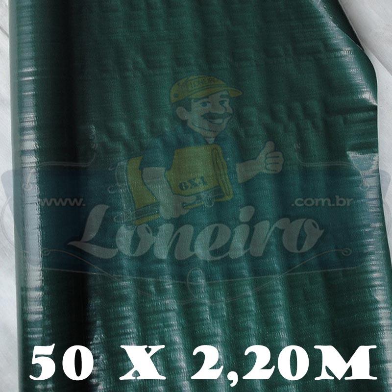Bobina Plástica Verde de Polietileno 50,0 x 2,20m = 110m²