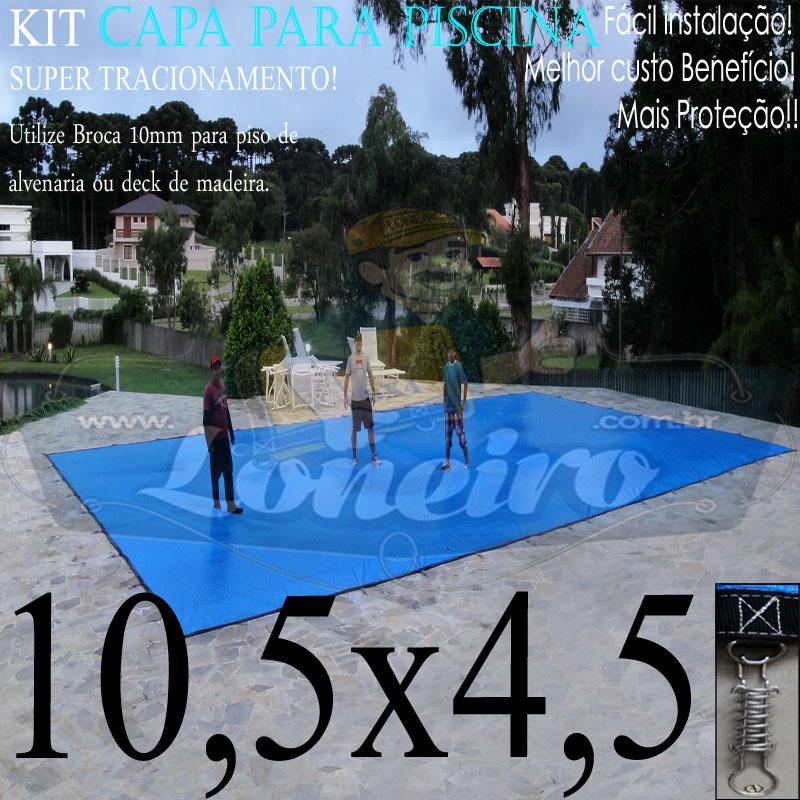 Capa para Piscina Super: 10,5 x 4,5m PP/PE Lona Térmica de Proteção e Cobertura +60m+60p+5b