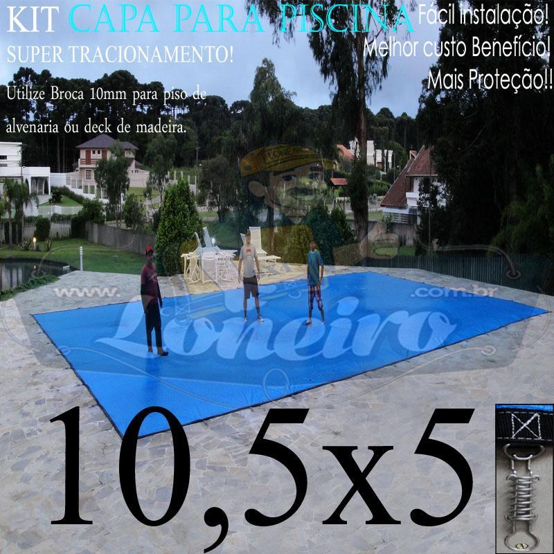 Capa para Piscina Super: 10,5 x 5,0m PP/PE Lona Térmica de Proteção e Cobertura +78m+78p+5b