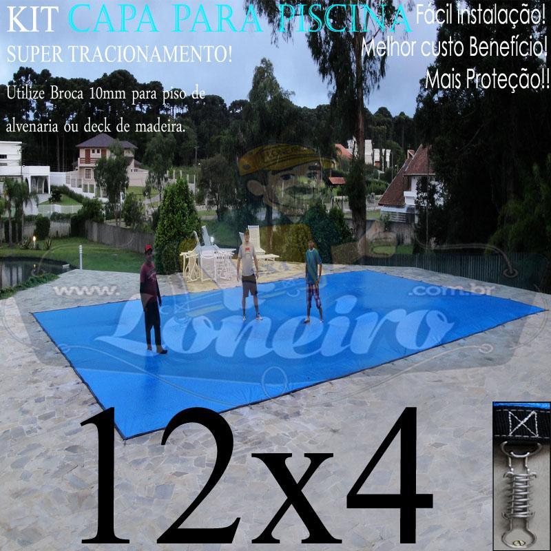 Capa para Piscina Super: 12,0 x 4,0m PP/PE Lona Térmica de Proteção e Cobertura +80m+80p+5b