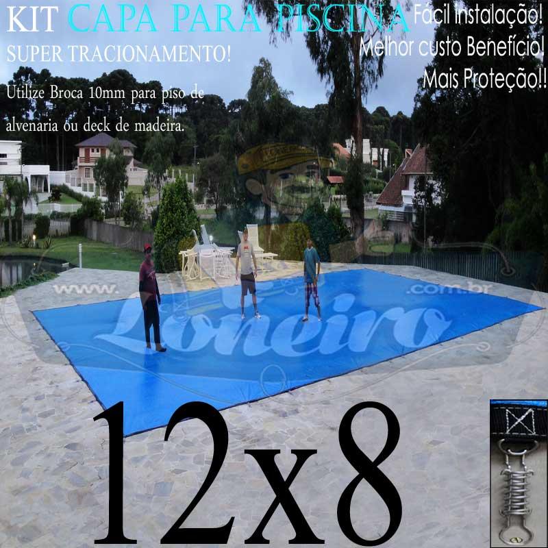 Capa para Piscina Super: 12,0 x 8,0m PP/PE Lona Térmica de Proteção e Cobertura +96m+96p+5b