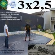 CAPA-PARA-PISCINA-PREMIUM-3X2,5-CINZA-CHUMBO-PRETO-COBERTURA-PROTEÇÃO-DE-PISCINAS-LONEIRO-CICALA