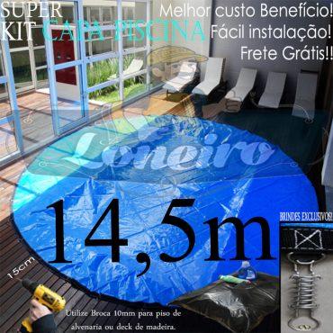 Capa para Piscina Super: 14,5m de Diâmetro Redonda PP/PE Lona Térmica Proteção 116m+116p+16b