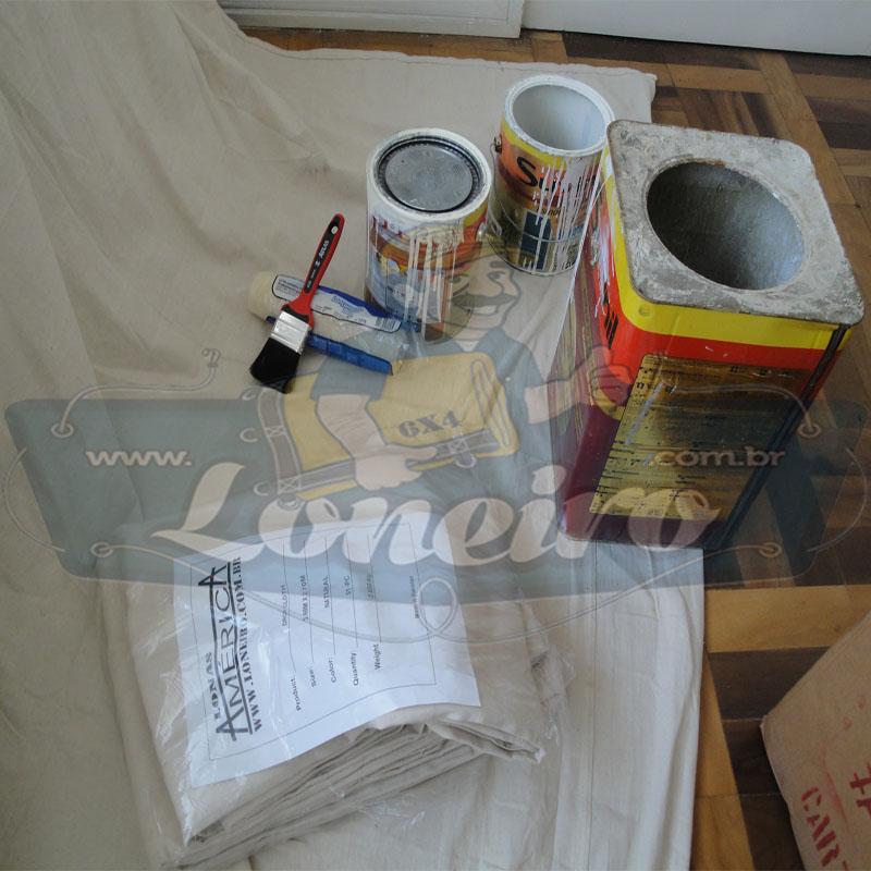 Lona 3,6 x 2,7m Capa de Sofá Cama Pano de Algodão Cloth para Reforma Pintura Proteção Confecções Lençol