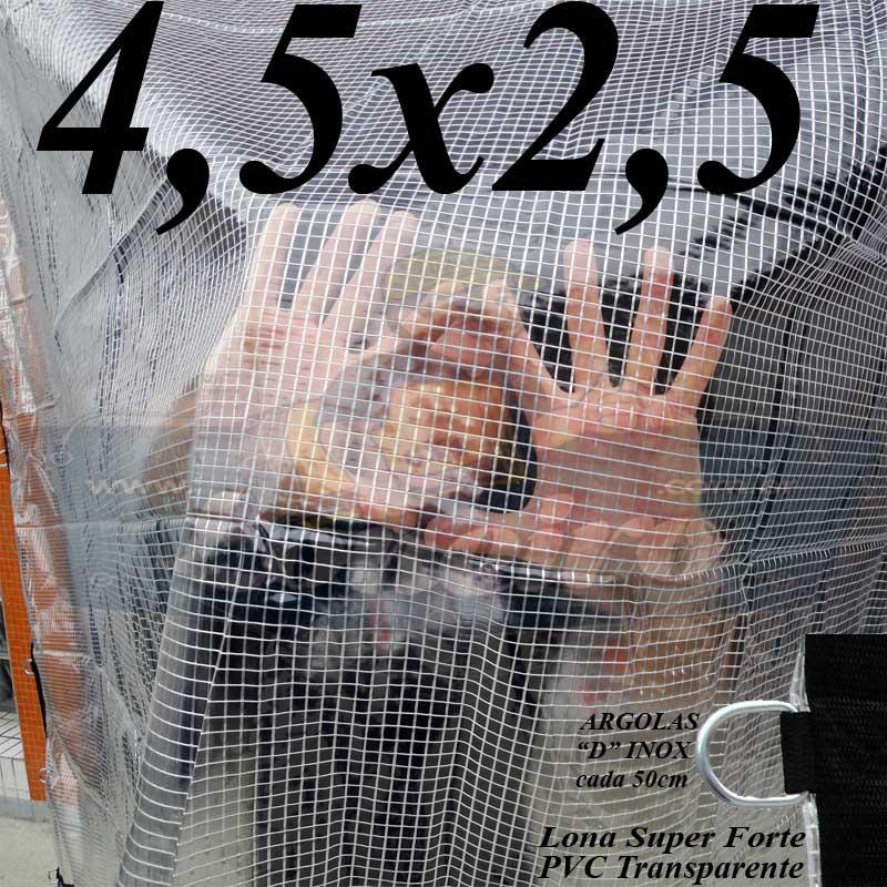 CRYSTAL PVC 4,5X2,5 LONA TRANSPARENTE