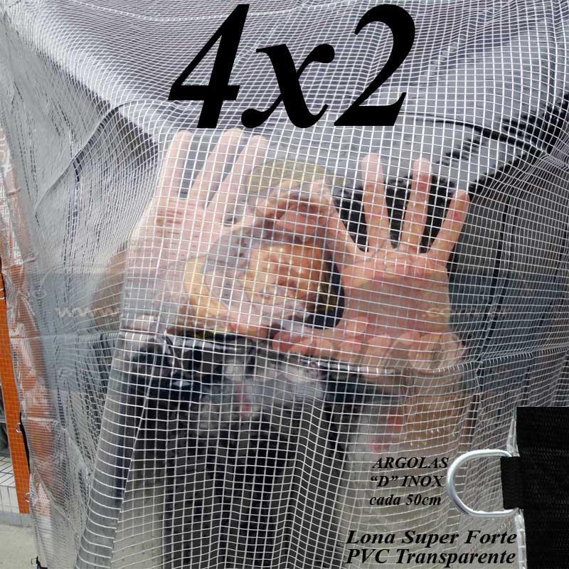 CRYSTAL PVC 4X2 LONA TRANSPARENTE