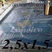 Capa para Piscina Transparente 2,5x1,5.
