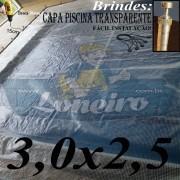 Capa para Piscina Transparente 3x2,5.