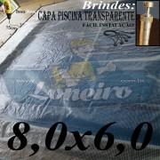 Capa para Piscina transparente 8x6