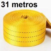 Cinta Avulsa 31 metros Amarela com Alça em uma das pontas para Slackline Suporta 3000kg ou 3 Ton de força