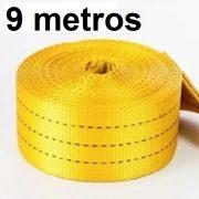 Cinta Avulsa Slackline 9 Metros X 50mm Amarela Para 3 Ton