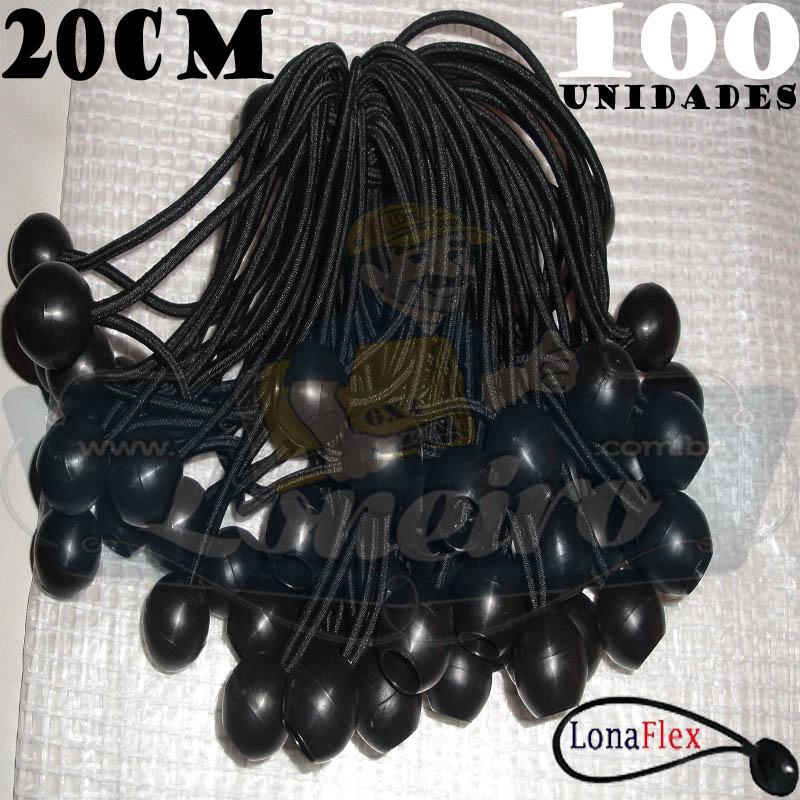 Elásticos de Fixação LonaFlex Bola 20cm contém 100 Unidades