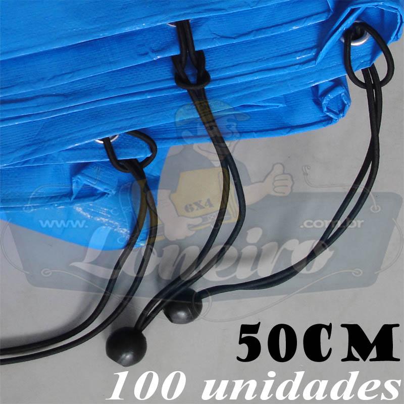 Elásticos de Fixação LonaFlex Bola 50cm contém 100 Unidades