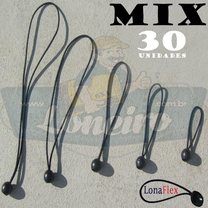 Elásticos Bola de Fixação LonaFlex MIX com 30 Unidades
