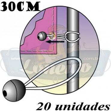 Elásticos de Fixação LonaFlex Bola 30cm com 20 Unidades