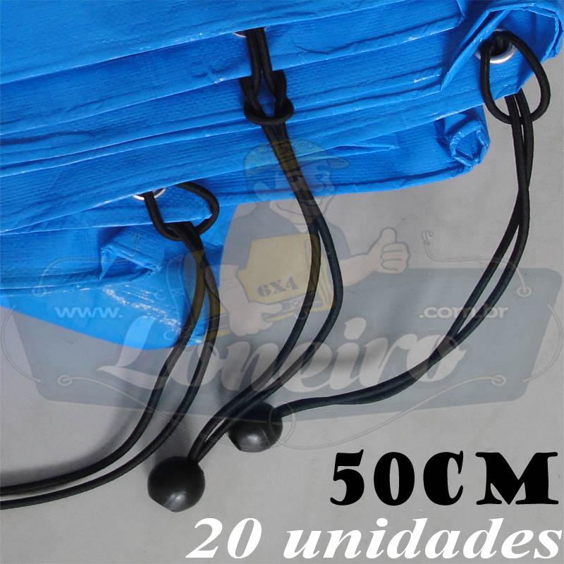 Elásticos de Fixação LonaFlex Bola 50cm com 20 Unidades