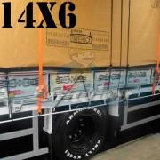 Lona: 14,0 x 6,0m Encerado Premium Coton RipStop de Algodão Caqui para Caminhão + 80 metros de Corda 8mm de brinde!