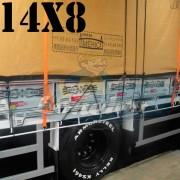 Lona: 14,0 x 8,0m Encerado Premium Coton RipStop de Algodão Caqui para Caminhão + 170 metros de Corda 8mm de brinde!