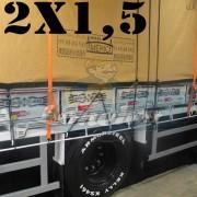 Lona 2,0 x 1,5m Encerado Premium Cotton RipStop de Algodão Caqui para Caminhão + 20 metros de Corda 8mm de brinde!