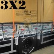 Lona 3,0 x 2,0m Encerado Premium Cotton RipStop de Algodão Caqui para Caminhão + 2 Catracas de 5m x 25mm + 10m Corda 8mm de brinde!