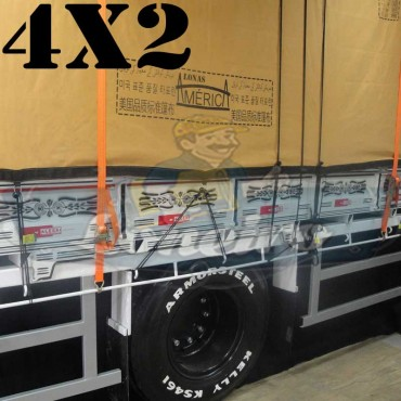 Lona 4,0 x 2,0m Encerado Premium Cotton RipStop de Algodão Caqui para Caminhão + 20 metros de Corda 8mm de brinde!